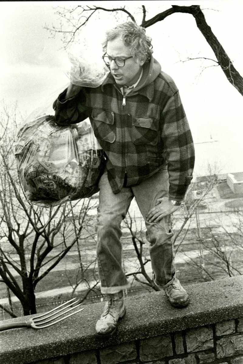 Voting for the man who picked up trash in his town and planted trees. That's my kind of guy.