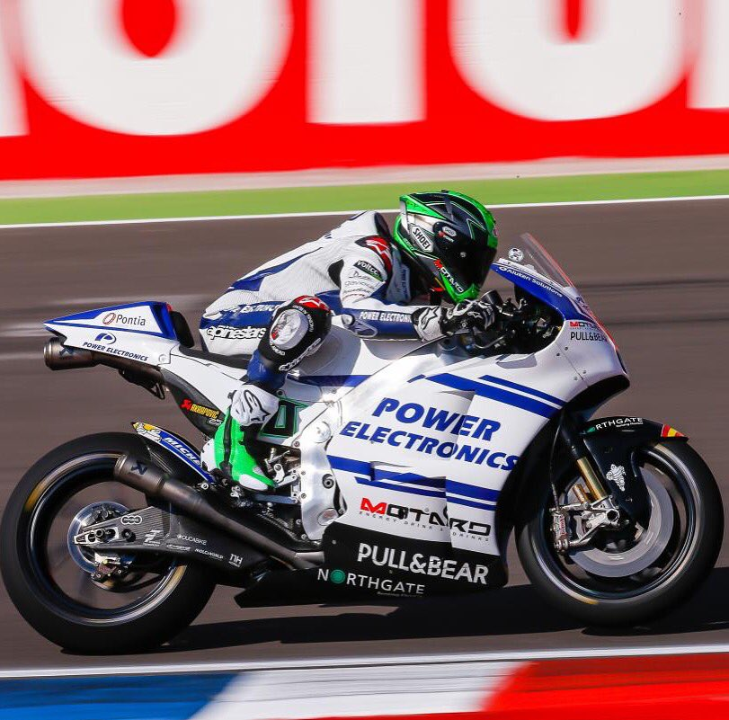 Absolutely delighted for @eugenelaverty to finish 4th in the Argentinian @MotoGP race. Fantastic weekend all round