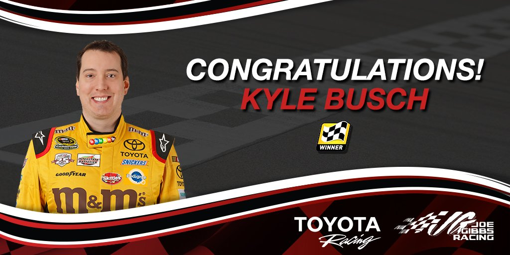 Your @NASCAR Martinsville winner is @KyleBusch! RT for chance to #WinWithToyota! #promo https://t.co/YQcenRjXWX https://t.co/jkKFWyLMK4