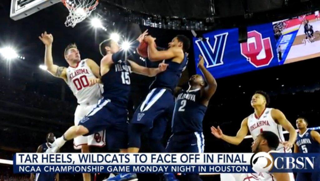 NCAA tournament final: Tar Heels and Wildcats go head to head