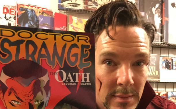 Benedict Cumberbatch goes to comic book store in DoctorStrange costume:
