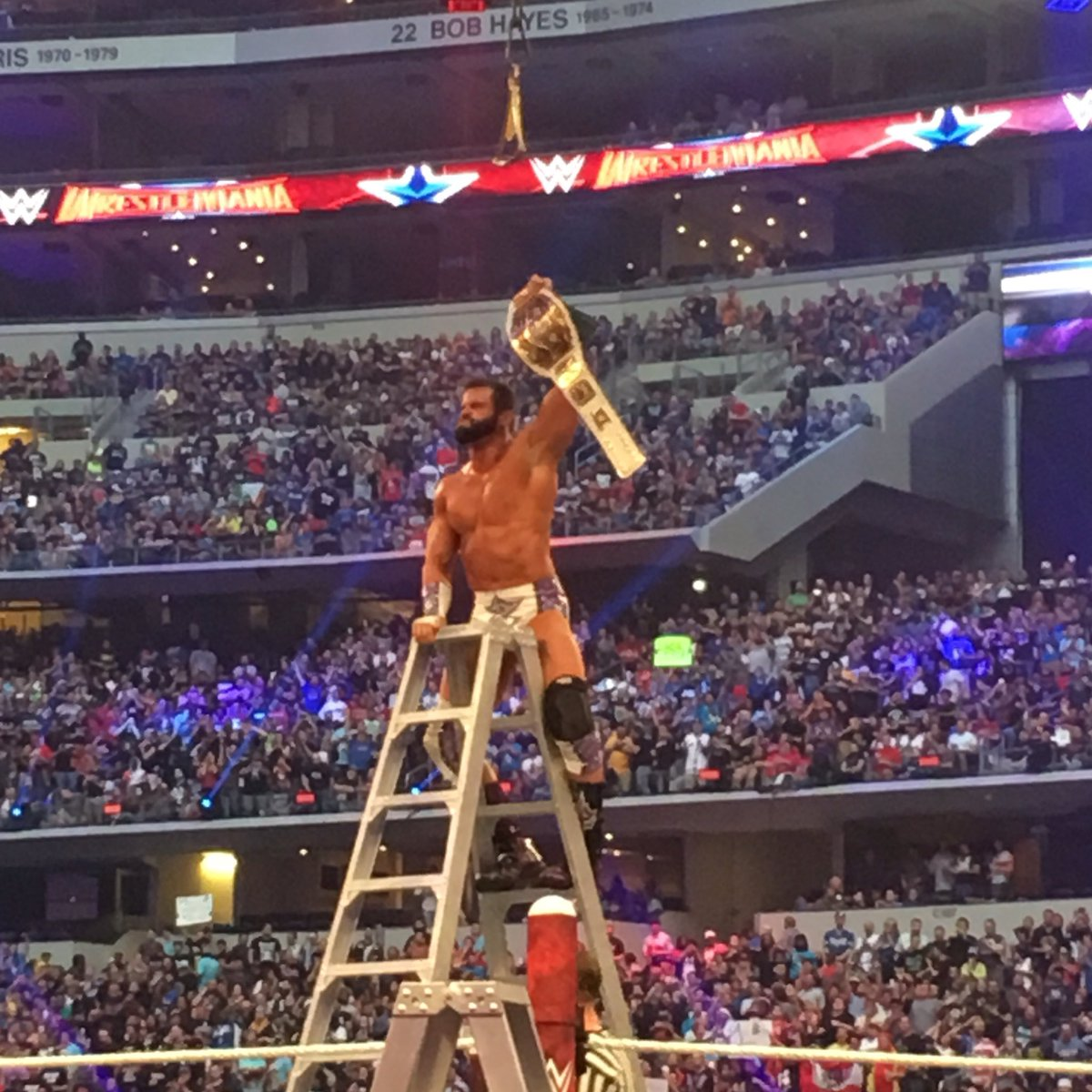 This isn't just a dream anymore. This is real life...#WrestleMania #WWWYKI https://t.co/inZHf646EI