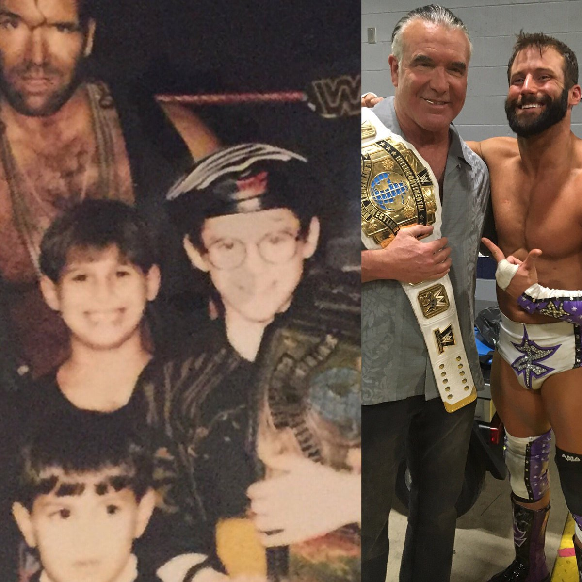 When I was a kid I held @SCOTTHALLNWO's Intercontinental title. Tonight at #WrestleMania, he held MY IC title! https://t.co/f0Jjm23CAg
