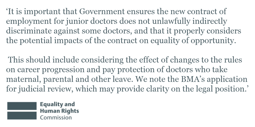 Our statement on the equality analysis of the new #juniordoctors contract: https://t.co/Fo21oIs19d #juniorcontract https://t.co/8jv5Z7SrJk