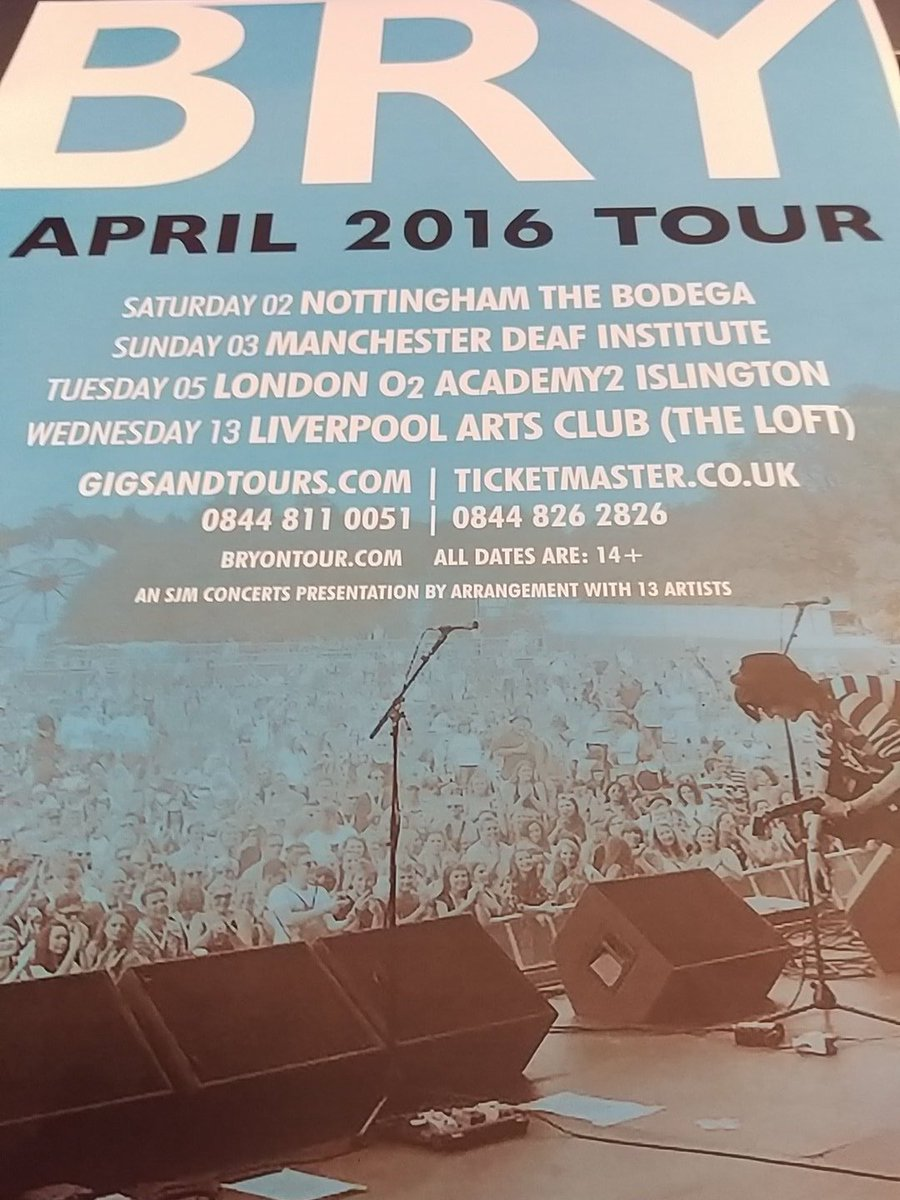Retweet to win @BryOnTour tickets for next Wed 13th April! https://t.co/MuzbNdYLeX #bry #bryliverpool https://t.co/UpxolSLfXP