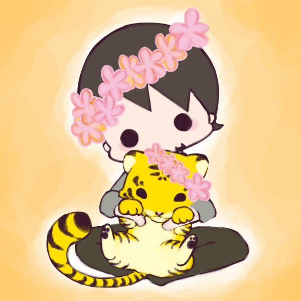 過去絵から。タイガー&タイガー♪ #春のTB花冠祭り https://t.co/ssL5HKF3ey