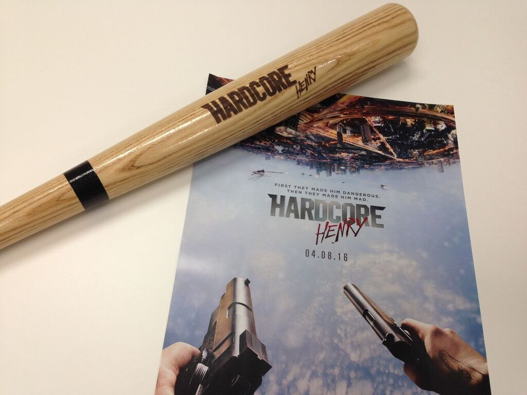 #Canada! #HardcoreHenry hits theatres Fri. We're giving away this bat to celebrate Follow & RETWEET to enter to win! https://t.co/r8fznXZtjl