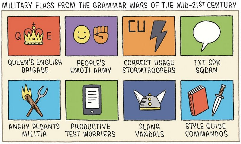 Flags from future grammar wars, by @tomgauld https://t.co/3MNLnuGx7w
