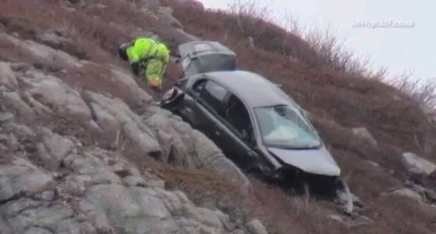 Woman In Serious Condition After Car Goes Off Cliff At Signalhill - Car signal hill