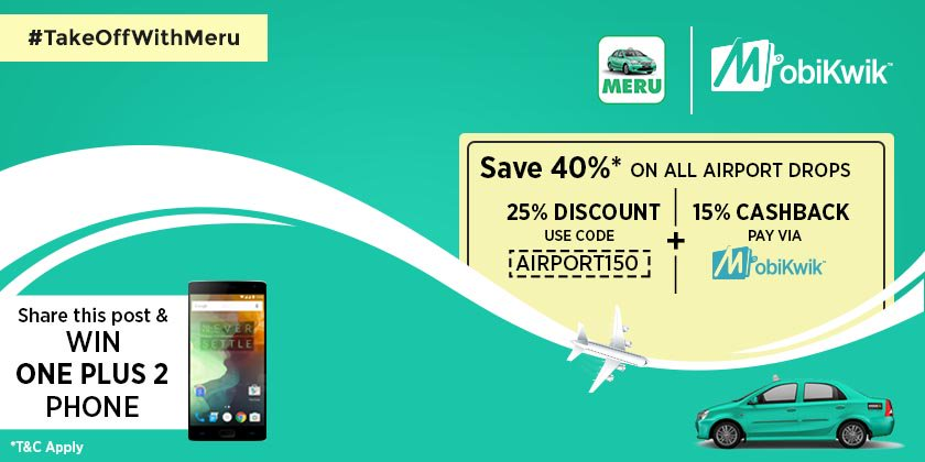 Have you participated yet? Stand a chance to win One Plus! @MeruCabs https://t.co/UDZ2AJdYqe