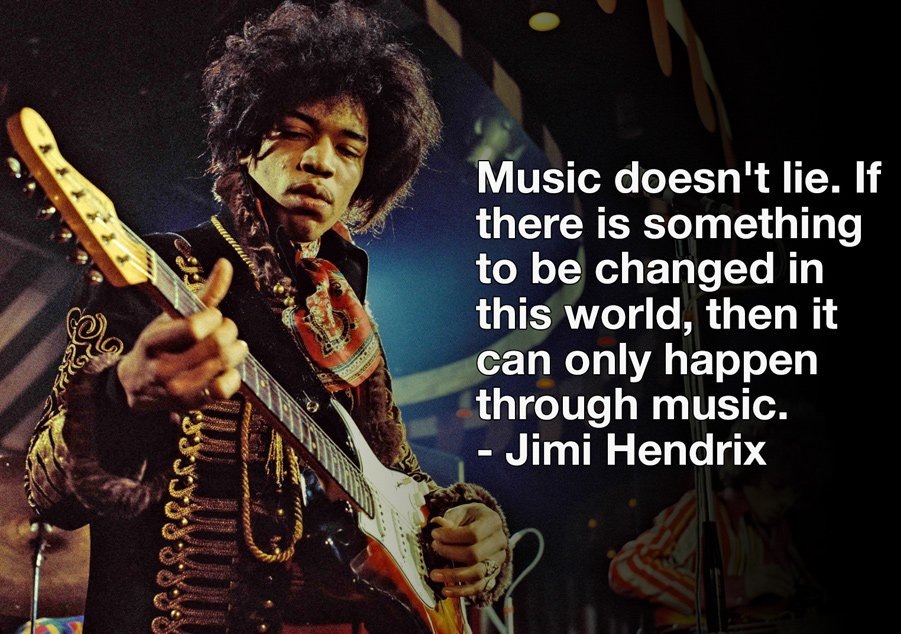 """If there is something to be changed in this world,then it can only happen through #music.""  - #JimiHendrix  #life https://t.co/FbA95i4uee"