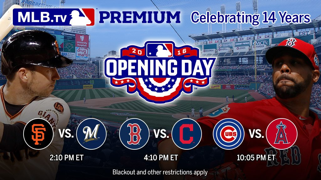 Don't miss a minute of #OpeningDay.   All 11 games, live on #MLBTV. https://t.co/dZodZJDgHx https://t.co/hzj0UUAkxj