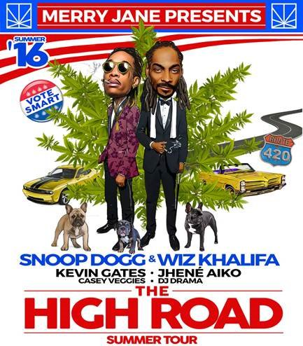 ANNOUNCEMENT! @SnoopDogg & @wizkhalifa's The High Road Summer Tour on 8/12.   Tickets on sale this Friday at Noon. https://t.co/XrCtNay1rr
