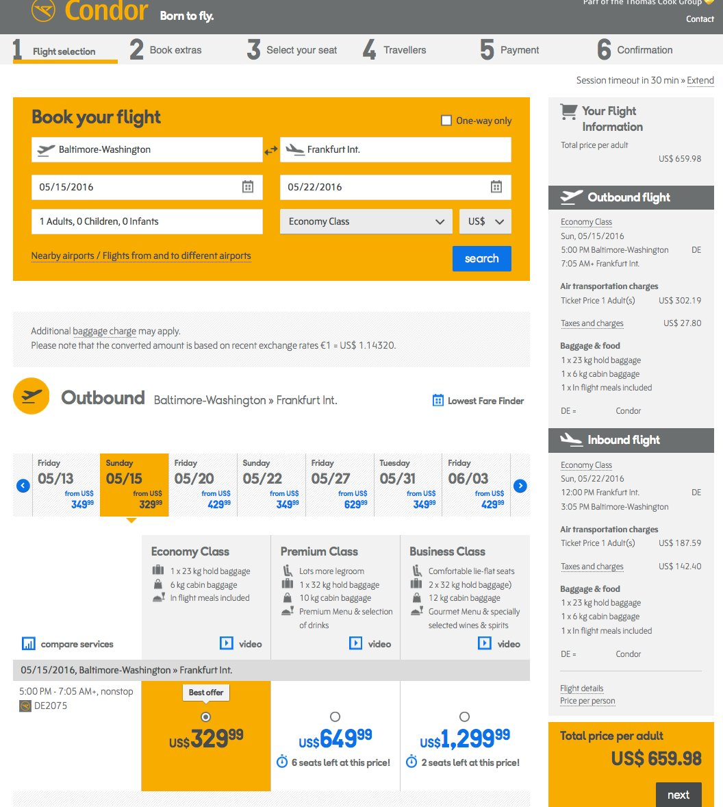 RT @airfarewatchdog: Baltimore BWI to Frankfurt FRA $660 round-trip, nonstop, for May travel