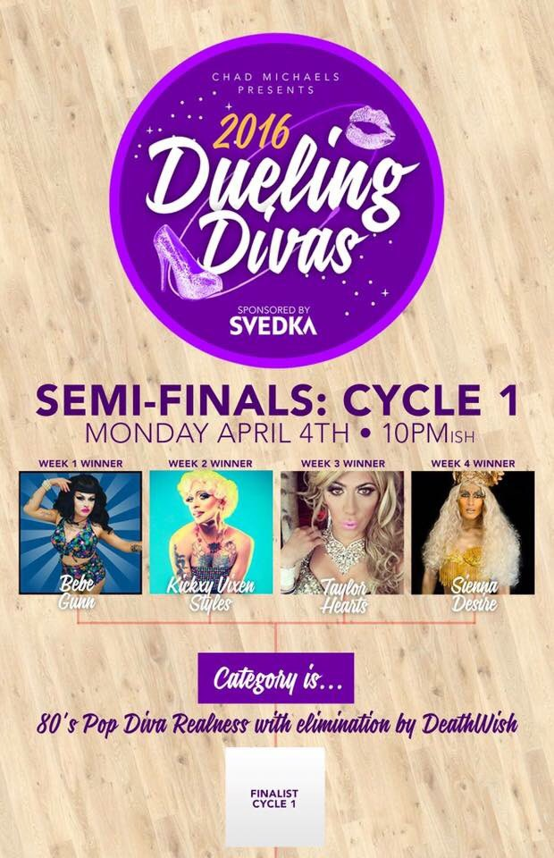 #DuelingDivas Semi-Finals TONIGHT @mosuniverse following @RuPaulsDragRace viewing party hosted by @ChadMichaels1
