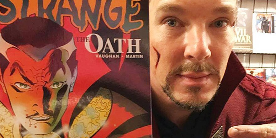 Benedict Cumberbatch makes surprise appearance in costume as Doctor Strange in NYC