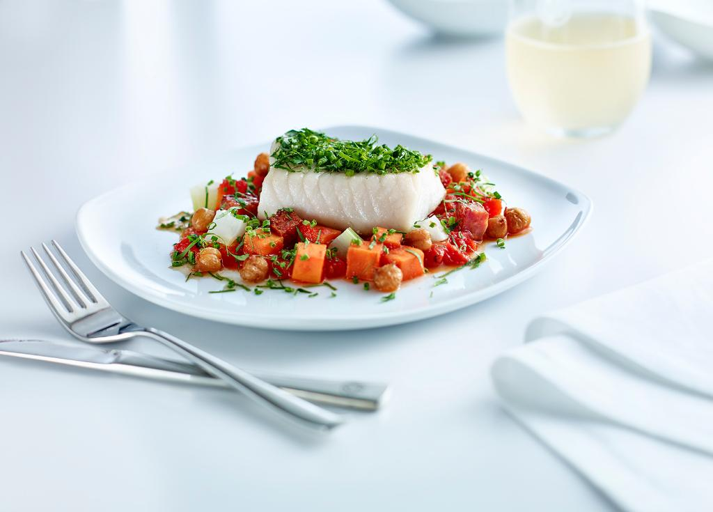 New menu from culinary partner @ChefHawksworth onboard Intl. Business Class