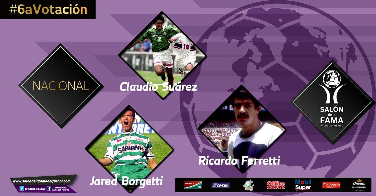 Ellos son los Inmortales del futbol nacional ( #México ) @c_suarez_2 @borgetti58 #Tuca Ferreti. #6aVotación https://t.co/DBvS0AR7Oe