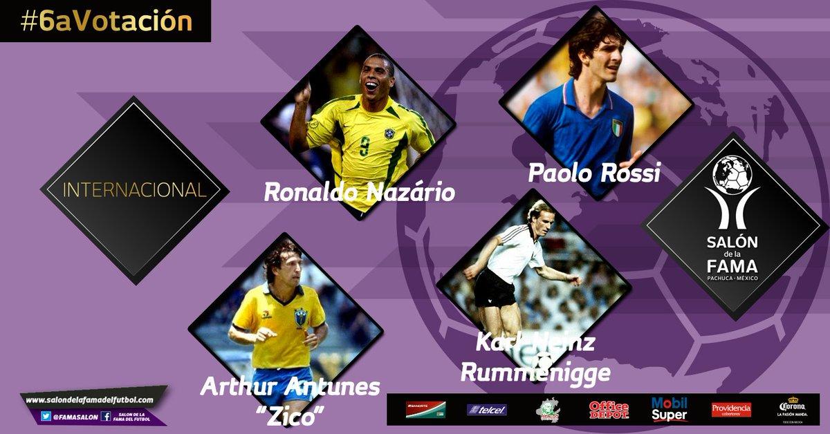 Los inmortales del #Futbol #Internacional @Ronaldo @PablitoRossi #Zico #Rummenigge #6aVotación https://t.co/q0W8JjzjTF