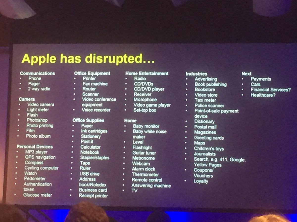 Timothy Lee, VP global strategy @SingPost shows us just how many industries have been disrupted by Apple #CXAU https://t.co/M8hfuRkzxz