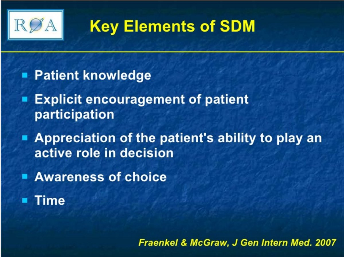 Key elements of shared decision making includes time https://t.co/P4FTBQsSEx in https://t.co/wgmvpEuJrd #bcsm https://t.co/4SNqNbAFOB