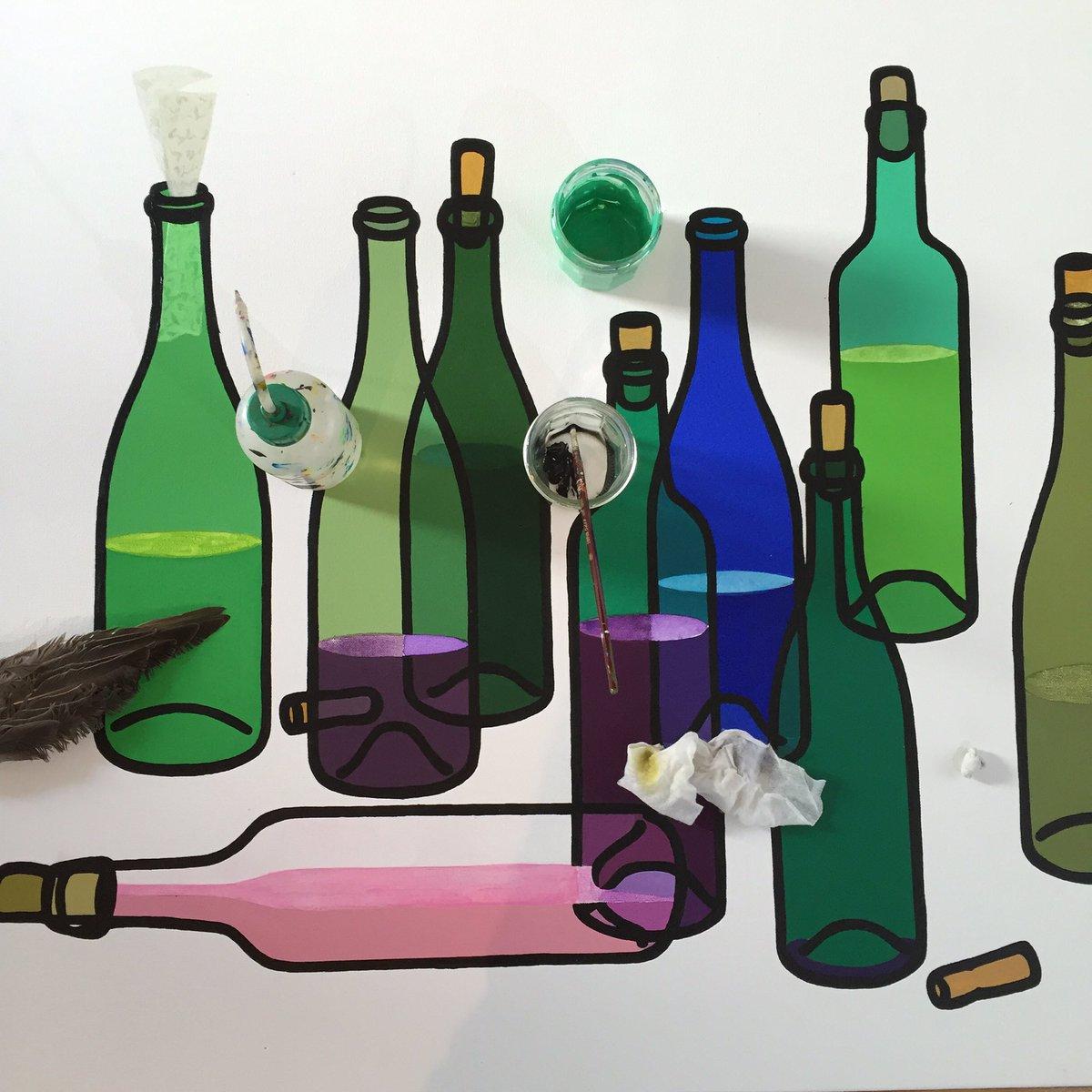 ワインをテーマにした10人の作家による展覧会に出してます。本日私が在廊日。ビオワインのインポーター「W」にて。代々木公園西門近く!15-23時までソムリエと共にお待ちしております!。500円で凄い自然派ワインと食事を提供。 https://t.co/vJYxoDXXLB