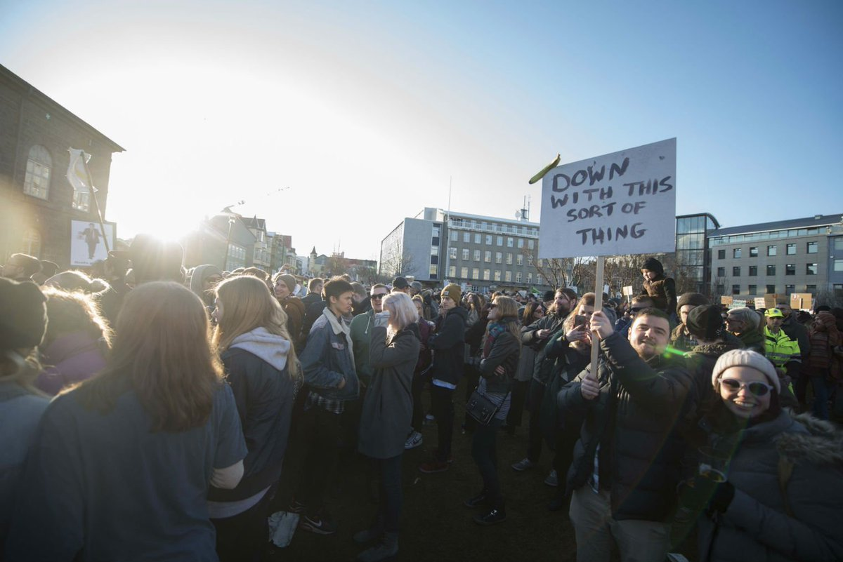 People in Iceland are throwing yoghurt at parliament over the Panama Papers