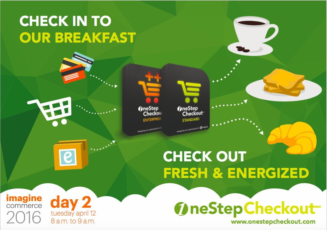 onestepcheckout: Meet you 8-9am at the Sunset Terrace for breakfast. Hangover cure and poker chips up for grabs! #MagentoImagine  https://t.co/q6PdBjhVE4