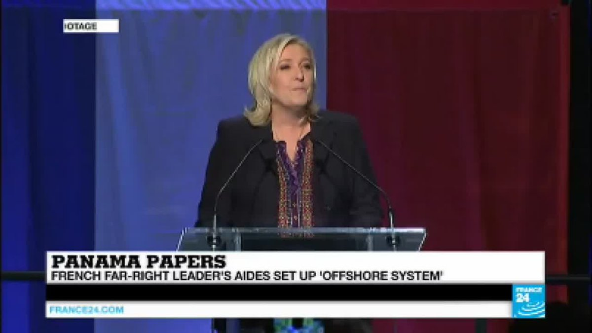 VIDEO -  Panama Papers: far-right leader Le Pen's aides implicated in offshore scandal