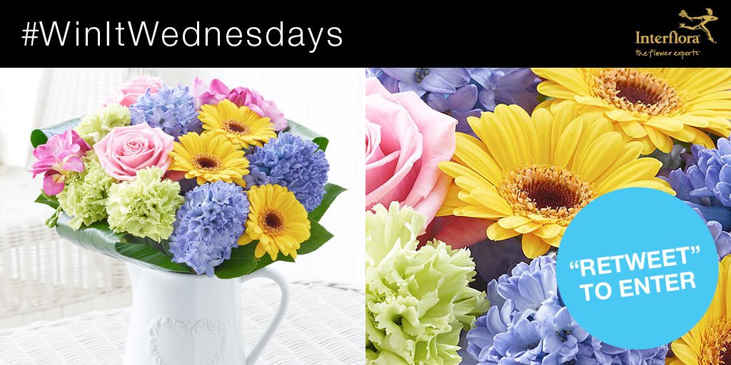 It's #WinItWednesday! RT & follow for a chance to #win our Springtime Garden Jug Arrangement. Ts&Cs > //ow.ly/zgJAl https://t.co/eiQkqsN5PW