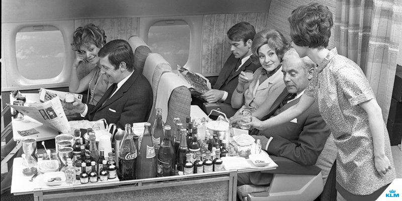 Want to know what airplane food looked like in 1965?
