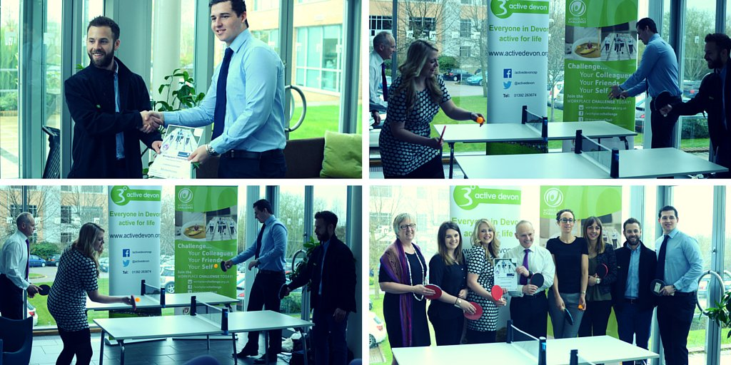 Thanks to @activedevon for our new #tabletennis net that we won for coming second in the Devon Workplace Challenge! https://t.co/2DmxLFLiRX
