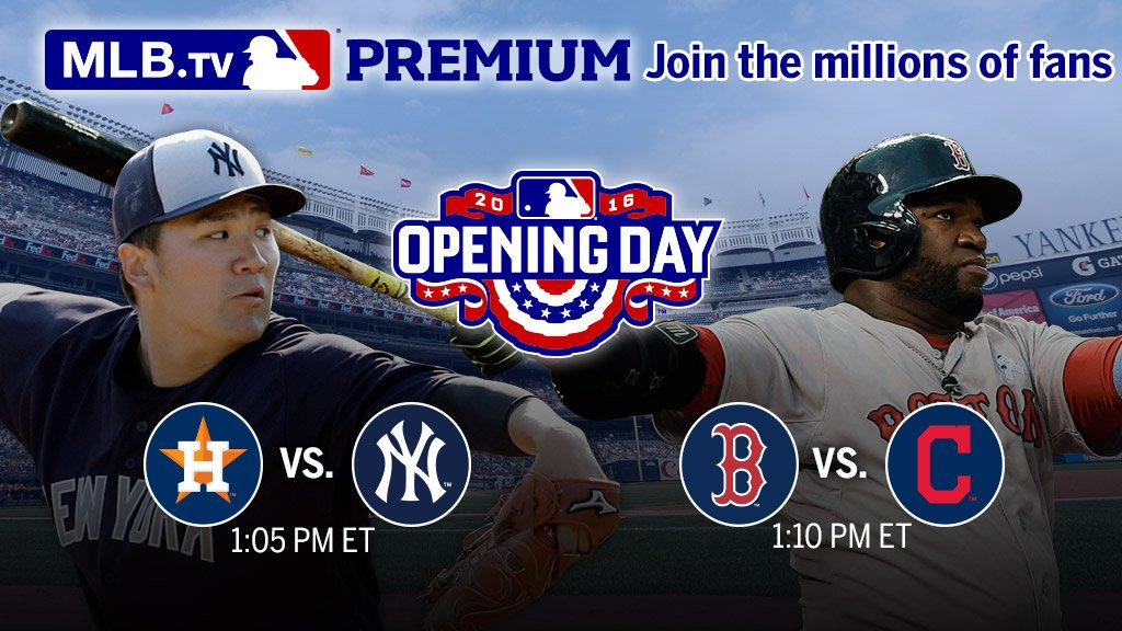 #Yankees. #RedSox. The rivals begin their seasons NOW on #MLBTV. https://t.co/MH6mWuWqv9 #OpeningDay https://t.co/PPGZOcvRZp