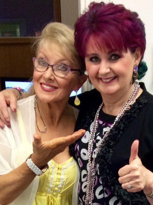 Really great banter with Twink (Adele) on Midday yesterday - fans of each other, what fun! Happy Birthday Adele xxx