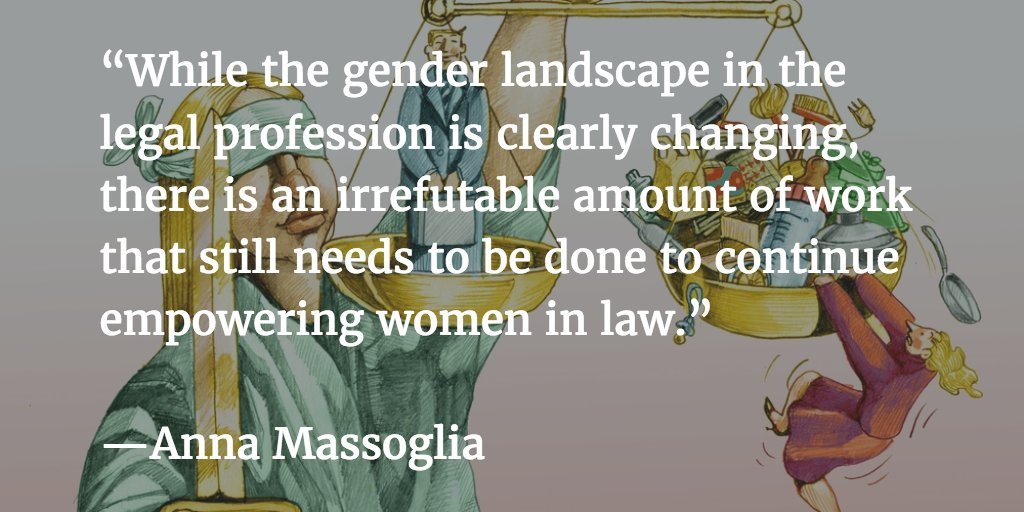 The State of #WomenInLaw: issuesfaced by women in law still need continued conversation. https://t.co/PRgiBN5jLx https://t.co/x8uZsTHNDb