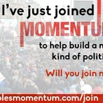 Ive just joined @PeoplesMomentum - a new kind of politics https://t.co/XL4xXham0f https://t.co/YGzw4jEKeh << vital we defend democracy