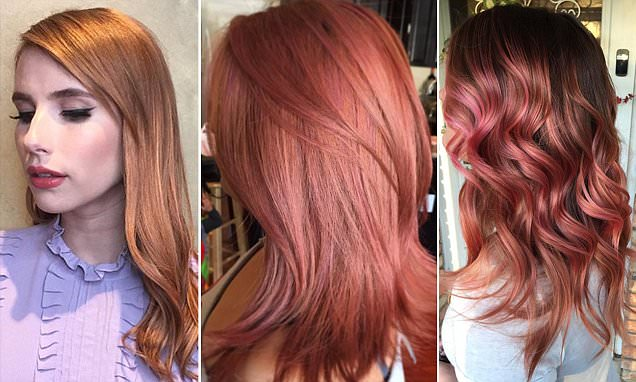 Not Quite Red Not Quite Blonde Rose Gold Is The Latest Hair