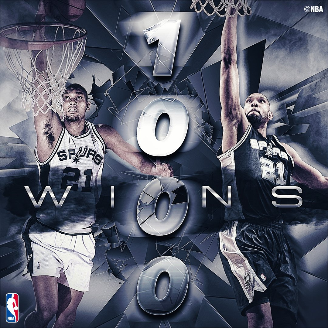 Congrats to TIM DUNCAN on winning his 1,000th game with the @spurs! https://t.co/lmRoH9TpM4