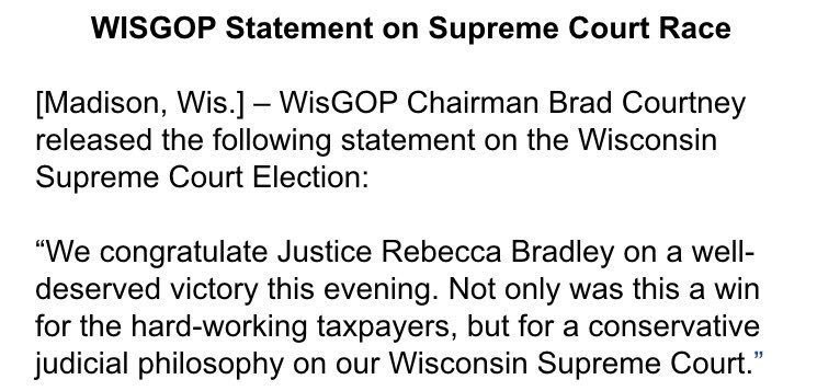 Congratulations @JudgeBradleyWI! https://t.co/u7mKK2gE1O