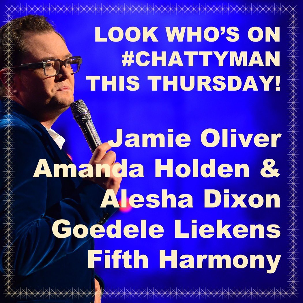 RT @chattyman: What a line up we have for you tomorrow night! ????????❤️???????? Sam x https://t.co/pO3vdzUhNW