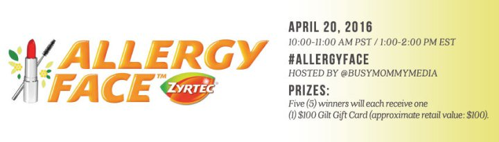 RSVP for the #ALLERGYFACE Twitter Chat on 4/20  w/ @BusyMommyMedia & @Zyrtec  #ad https://t.co/DFYHY5W3p0 https://t.co/AOwVjUwCqz
