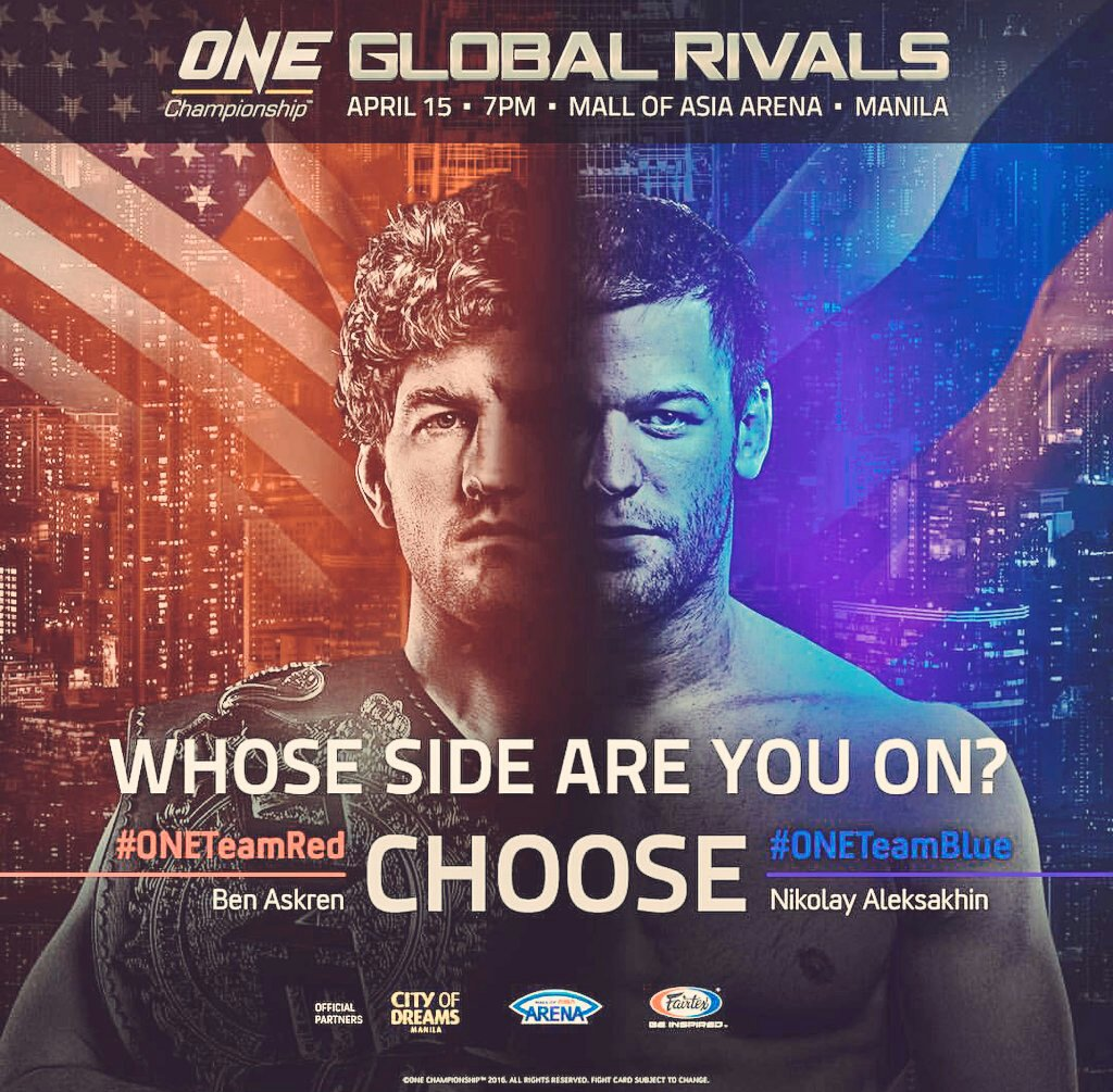 Biggest MMA event in Asia, April 15 - MOA! Giving away tons of tickets. RT for a chance to win! #GlobalRivalsxMeta https://t.co/c7Z5ycExTv