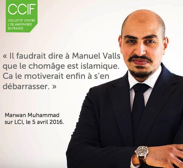 """""""Il faudrait dire à Manuel Valls que le chômage est islamique. Ca le motiverait enfin à s'en débarrasser.""""@Marwan_FX https://t.co/QWYVd2n3pZ"""