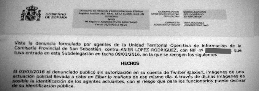 AZKEN ORDUA: Espainiako Gobernuak ARGIA zigortu du, Mozal Legea baliatuz https://t.co/UcXJG3FnQ6 #ARGIAMozalikGabe https://t.co/koU1Z0R49E