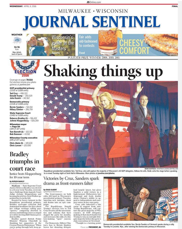 Milwaukee journal sentinel singles