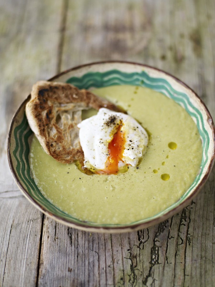 This silky-smooth asparagus #soup is a delight with the gooey egg! https://t.co/Yw5RzaP96R #RecipeOfTheDay https://t.co/6dmK4JPfSr
