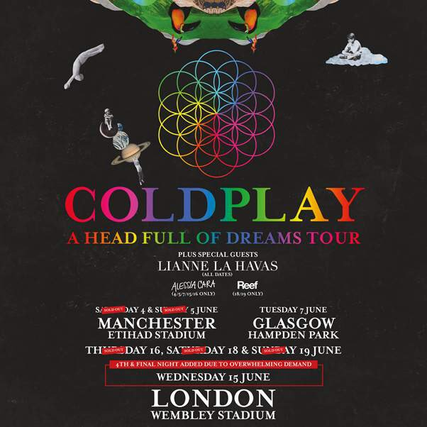 Im gonna be opening for @Coldplay on their European tour. words cant describe how incredibly honoured & excited I am https://t.co/uhdhn3QF6O