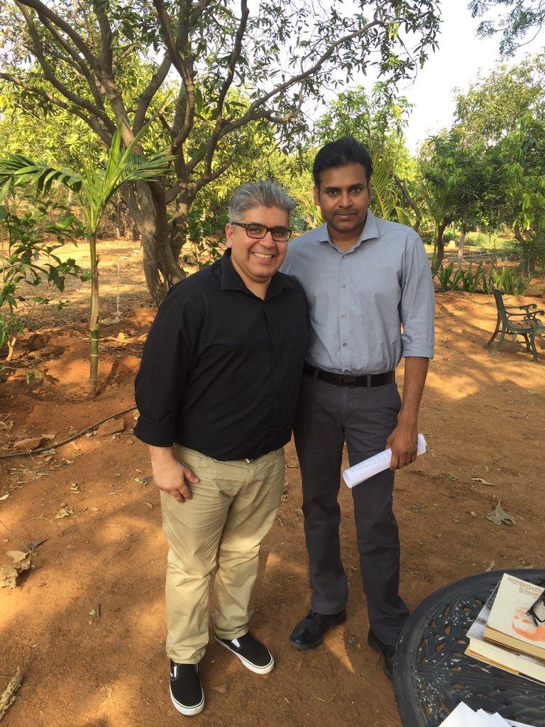 Such humility, grace & wisdom. Thank u #PowerStar @PawanKalyan for opening yr heart & home. Interview airs tomorrow! https://t.co/FuZdwGpHji
