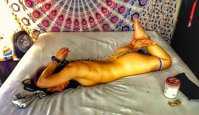 RT : what cruel #bondage peril awaits little #naked & #barefoot today? #VIPcamshow