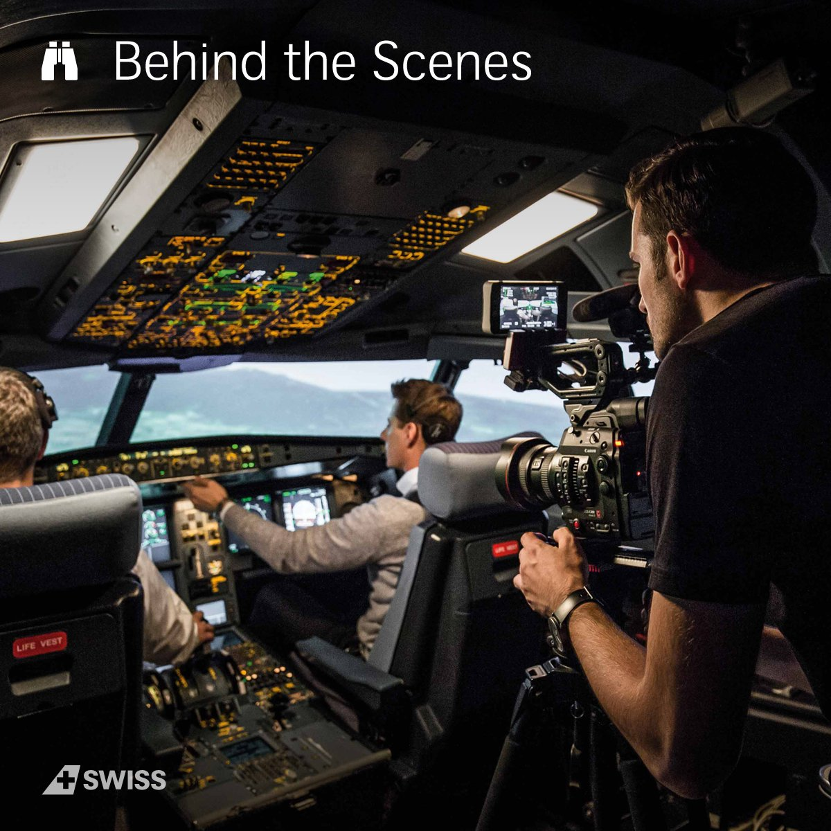 "Our brand film ""The people behind SWISS"" required a lot time and effort. More on our Blog:"